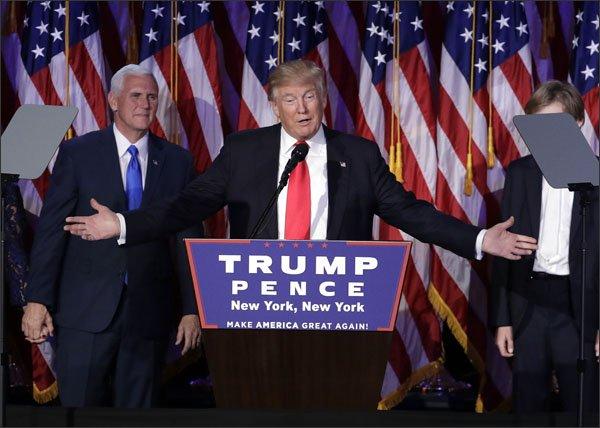 Il 45° Presidente eletto negli Stati Uniti: Donal Trump