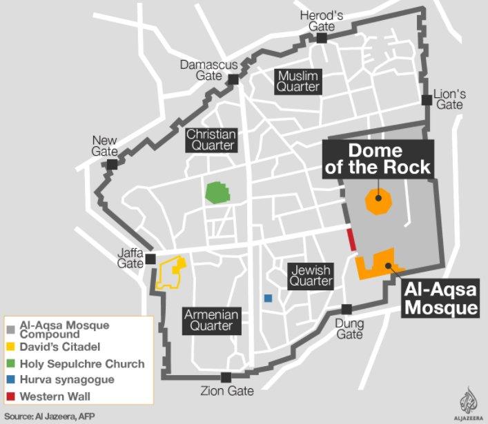 Crescono le tensioni nel complesso della Moschea al-Aqsa a Gerusalemme