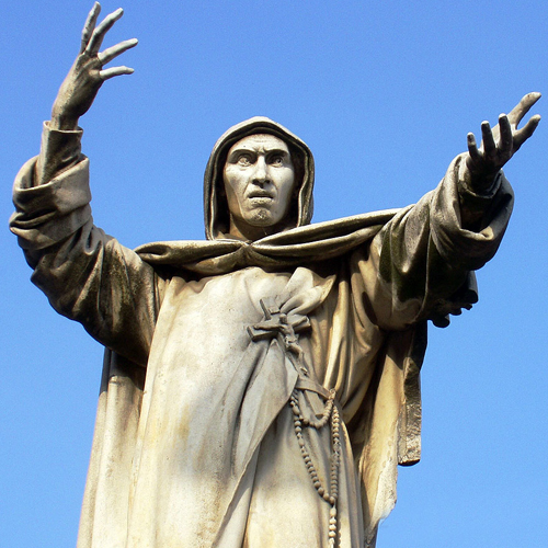 Girolamo Savonarola: burnt by the order of the Pope, then sanctified 500 years later